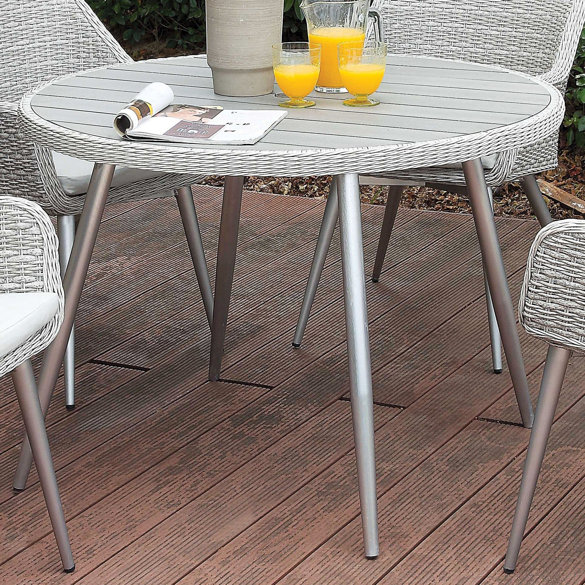 grey outdoor dining set furniture outdoor ikea furniture of america sunni contemporary plank style aluminum grey outdoor round dining table silver