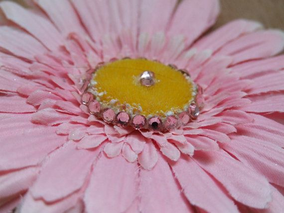 Pink Flower Clip by ang744 on Etsy, $5.00