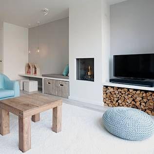 landelijke woonkamer - Google zoeken | Gashaard met tv | Pinterest ...