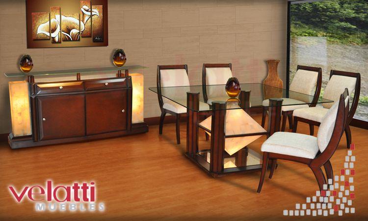 Comedor luxor comedores modernos comdores onix for Comedores modernos en puebla