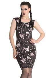 Arcane Sphynx Cat Pencil Dress by Hell Bunny