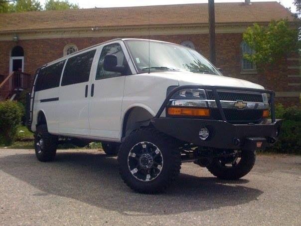 Aluminess Front Bumper And Ladder 4x4 Van Lifted Van Chevy Van