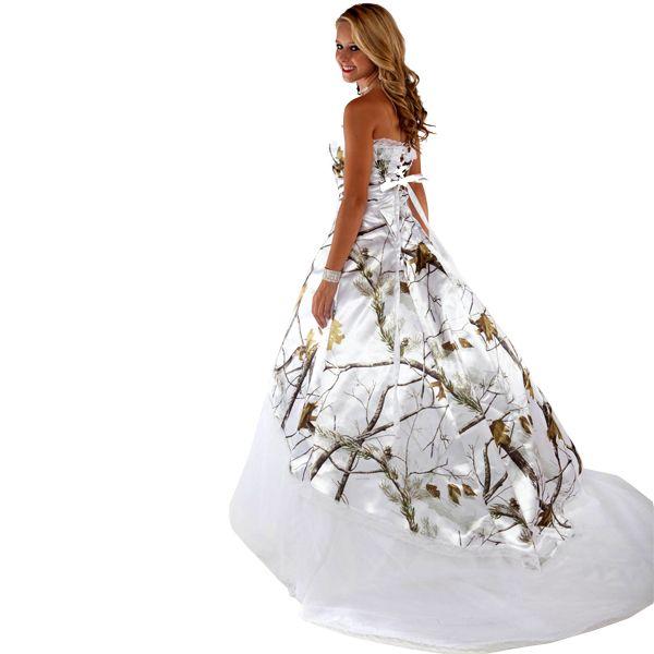 realtree wedding dresses   Realtree White Camo Wedding Dress   Made ...