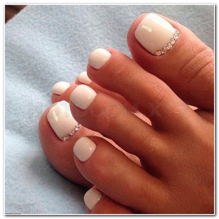 french manicure on acrylic nails, capital nail salon, blue ...