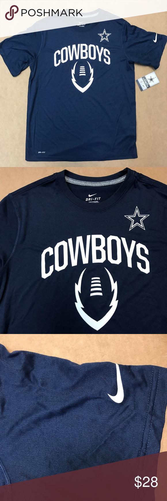 Dallas Cowboys Youth Legend Football Shirt. SZ XL NWT Youth Dallas Cowboys  Navy Blue Legend Icon Dri Fit Shirt. Youth XL. Nike Shirts   Tops Tees -  Short ... c9cde4de1