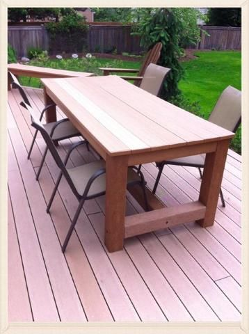 Ultradeck Composite Decking Outdoor Dining Table For Sale