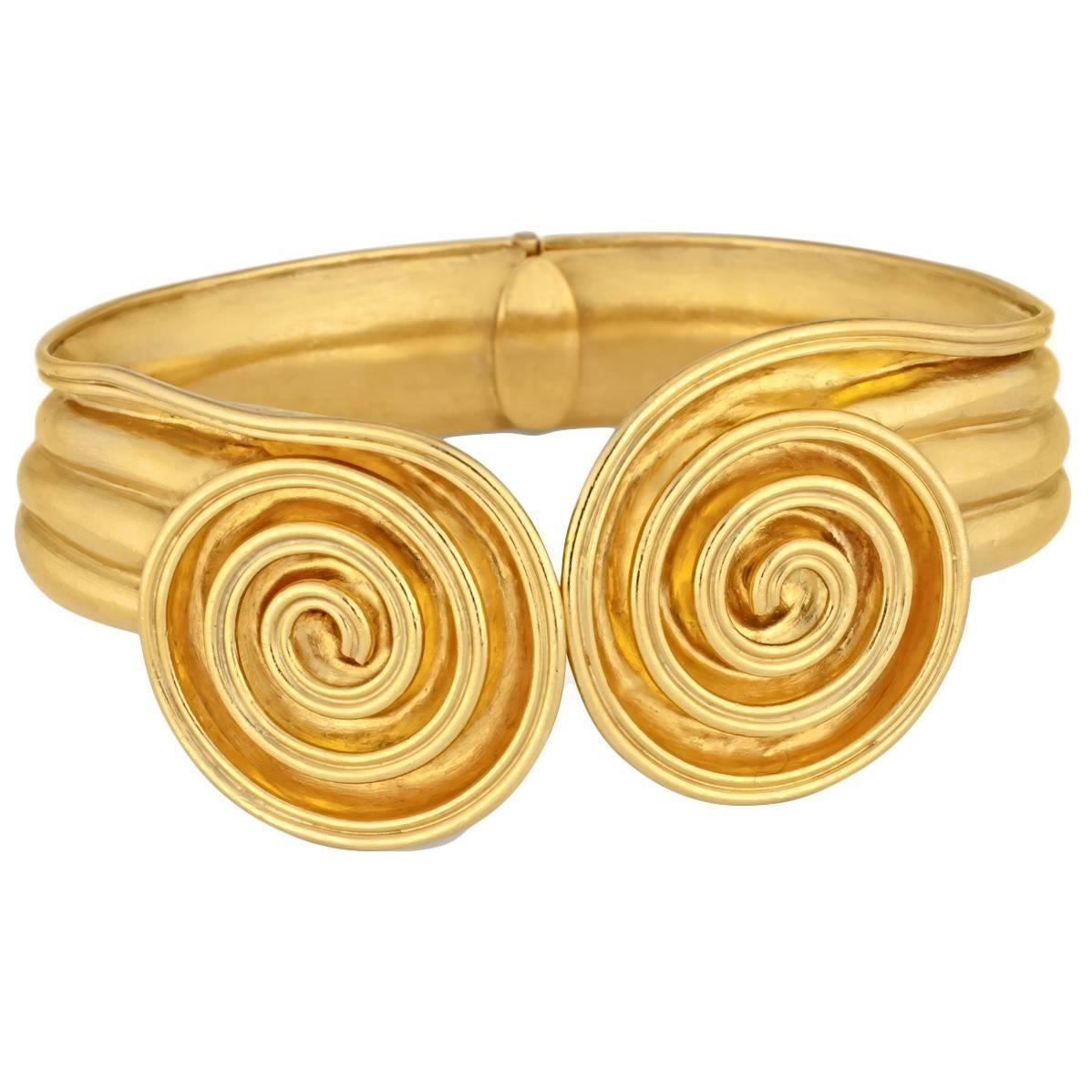 Lalaounis gold hinge bracelet jewelry bracelets bracelets and gold