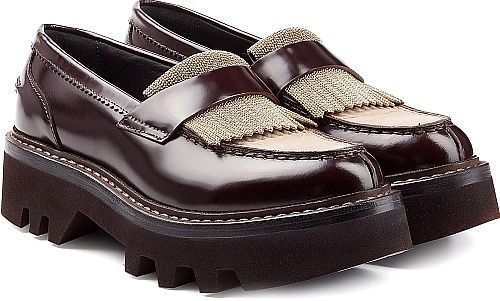 b7921557353 Brunello Cucinelli Shoes - From the refined high-shine texture of the brown  leather to the chunky midsole