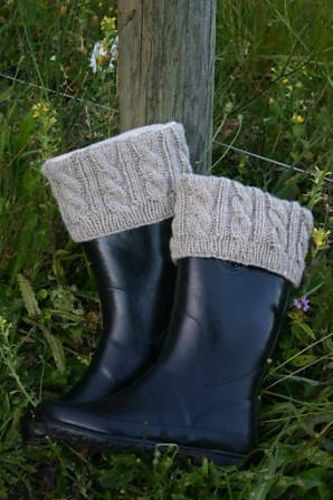 Cabled Boot Cuffslinerstoppers With Fleece Sock Pattern By Carmen