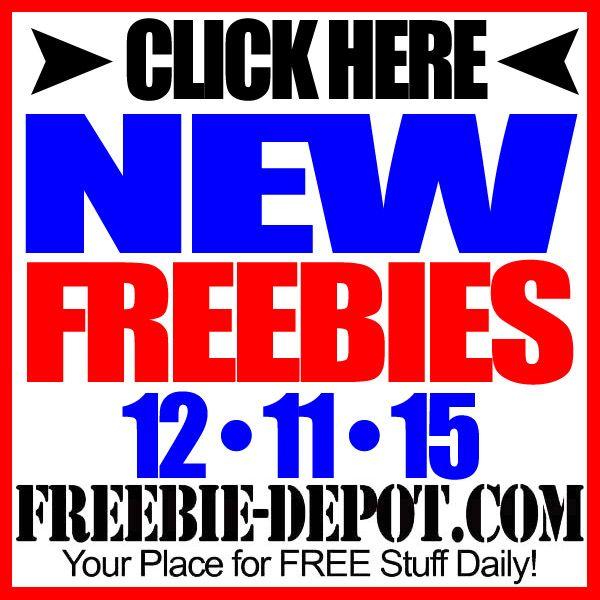 ►► NEW FREEBIE HOTLIST – FREE Stuff for December 11, 2015 ►► #Free, #FREEStuff, #Freebie, #HOTLIST ►► Freebie-Depot