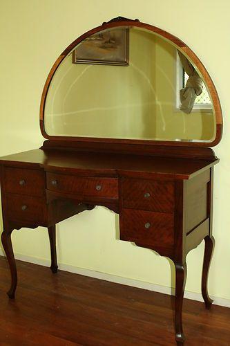 Antique Bell Bros Art Deco Maple Cedar Dressing Table Pick Up Brisbane Ebay