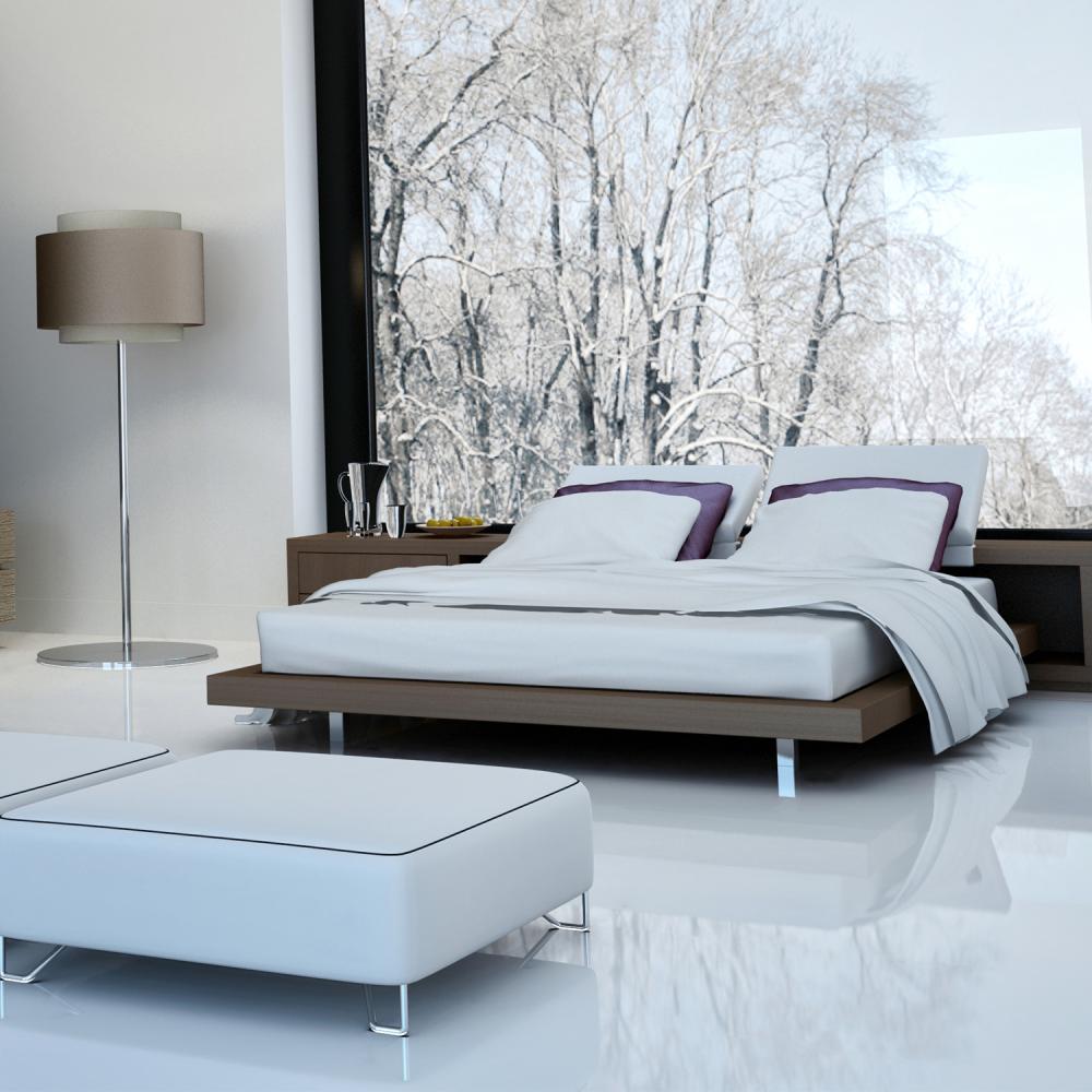 Falquon Flooring High Gloss Flat Edge White Laminate C500