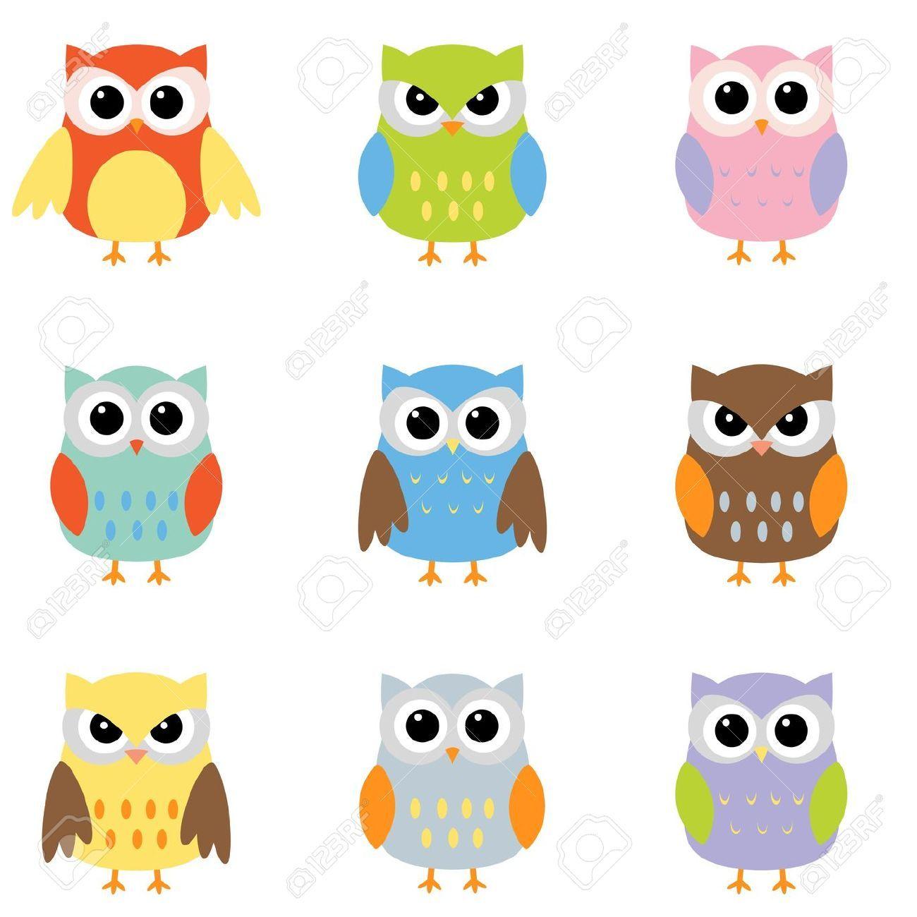 Owls med nio färgkombinationer