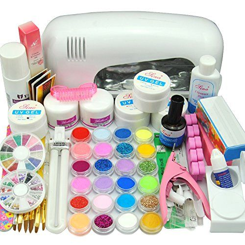 Nail Dryer 9w Uv Dryer Lamp 24 Colors Acrylic Powder Nail Art Kit Gel Tools Full Set Professional By Mjshop Read M Nail Art Kit Acrylic Nail Kit Powder Nails