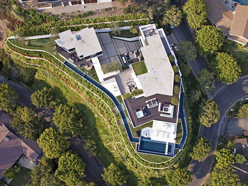 Daily Dream Home 1201 Laurel Way Pursuitist Beverly Hills Mansion Modern Mansion Beverly Hills Houses