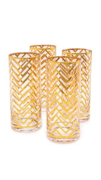 15cda083d0fc C. Wonder Chevron Tall Drinking Glass Set