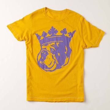 It's good to be the king. And with the 100% cotton Long Live Duke T-shirt, you can show everyone how good it can really be. Inspired in part by a famous Biggie Smalls image, this shirt features Duke, the designer's Bulldog, and is the most requested item in the Duke & Winston line.
