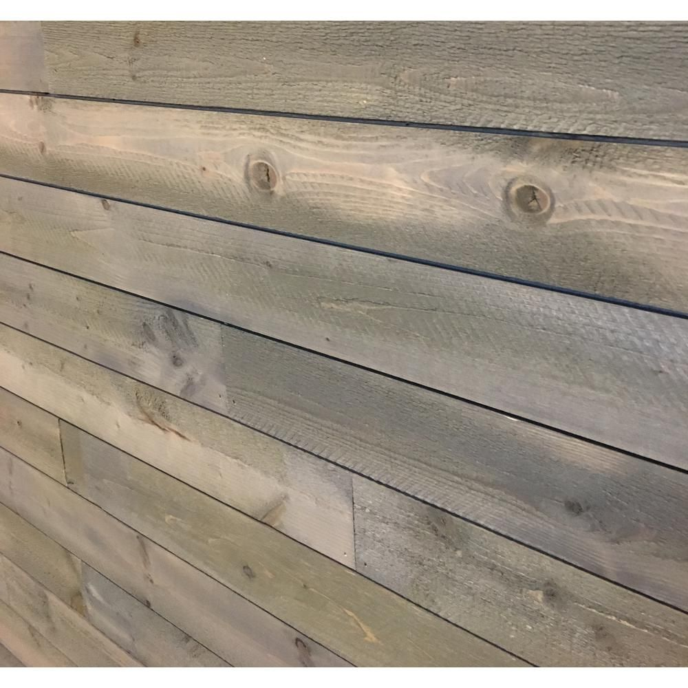 5 16 In X 3 5 8 In X Random Lengths Driftwood Grey Vintage Shiplap 8203750 The Home Depot Small Bars For Home Stained Shiplap Shiplap