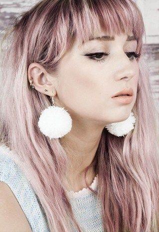 i have a deep love for pom pom earrings white pom pom earrings comfy tuesday pinterest. Black Bedroom Furniture Sets. Home Design Ideas