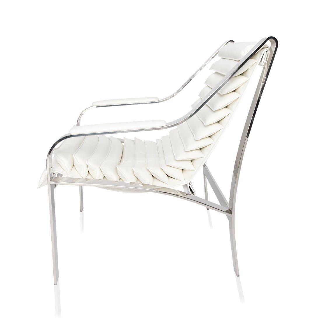Pleasing Silvio Modern Lounge Chair White Modani Homedecor Home Onthecornerstone Fun Painted Chair Ideas Images Onthecornerstoneorg