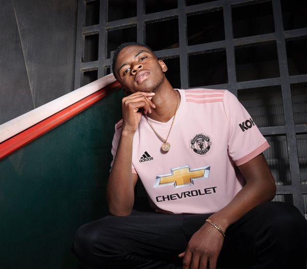 9720935bb 18-19 Manchester United Away Pink Jersey Shirt