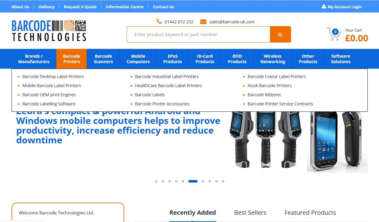 Barcode Technologies is a leader in providing products and