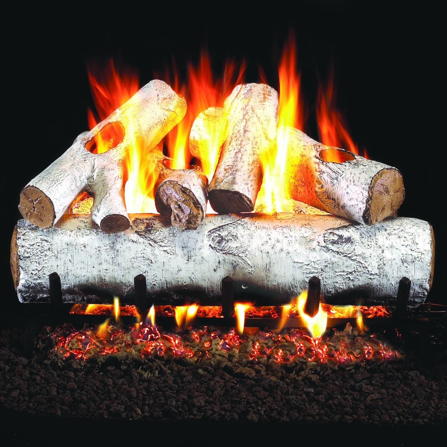 peterson real fyre white birch log set from gas log guys home