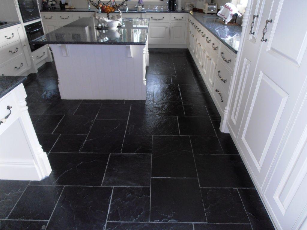 Fascinating black slate tiles kent tiledoctor picture for floor ...