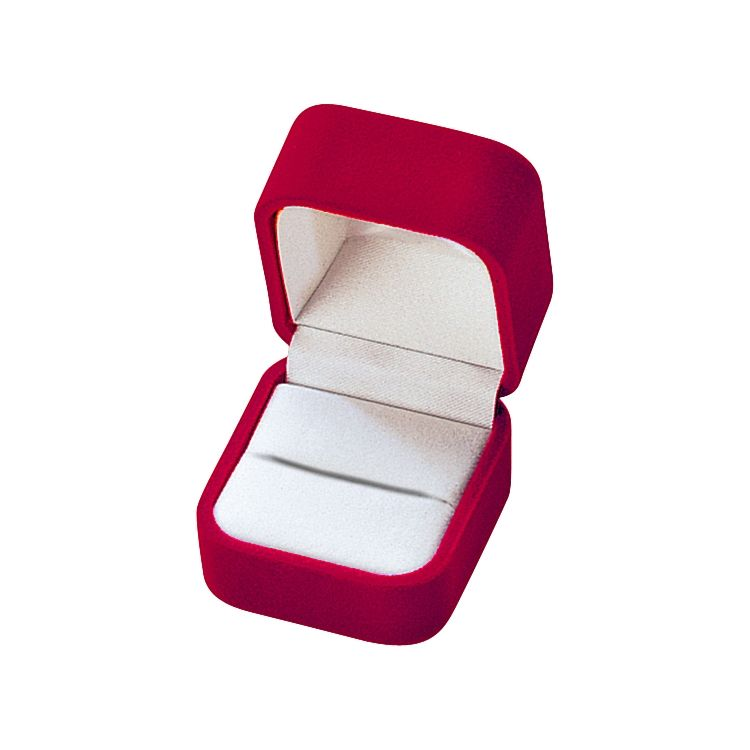 "Noble Gift Packaging's ""Superbe"" collection of red jewellery boxes are bound in a high quality flocked nylon, for the sumptuous look and feel of velvet at a lower price. These boxes have a seam detail on the outer lid, white velveteen inserts, and white satin inner lids."