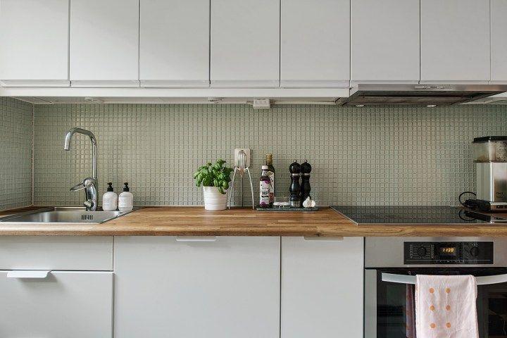 Si al papel de pared pintado en la cocina for the home scandinavian interiors cocinas - Papel pintado para cocinas modernas ...