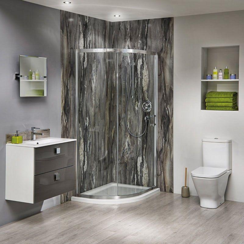 Aqua Step Alpine Oak R10 Waterproof Laminate Flooring 592mm X 170mm X 8mm In 2020 Bathroom Wall Panels Bathroom Shower Panels Restroom Design
