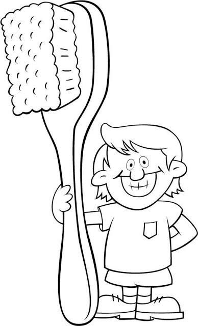 Coloring page | dents | Pinterest | Higiene oral, Colorear y Dibujos ...