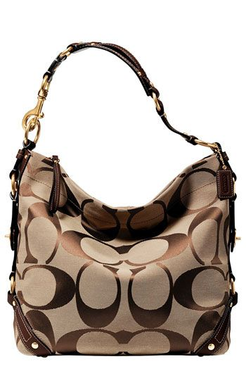 COACH CARLY LARGE SIGNATURE BAG available at  Nordstrom  3485d8a95f2fe