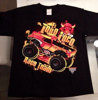 43f6c4bd9e2a Boys Girls Monster Jam T-shirt El Toro Loco BNWOT Truck Brand New Race Team  Gift in Tops