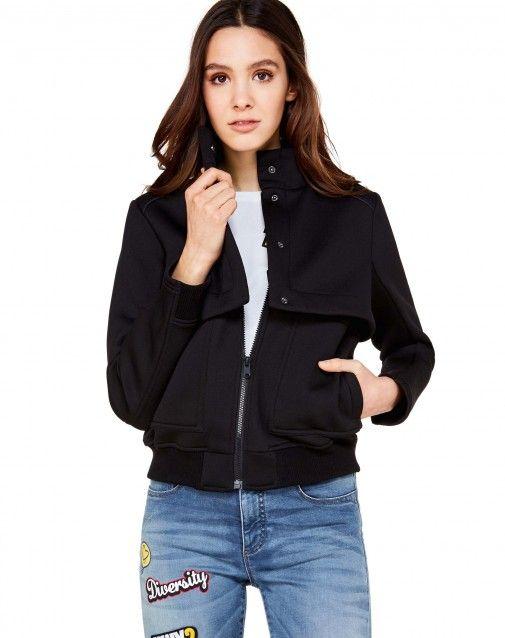 5638fe296418 Купить Куртка с макси-карманами Черный для Куртки в официальном ...