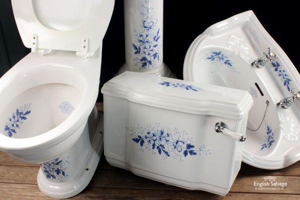Blue Floral Staffordshire Charlotte Suite