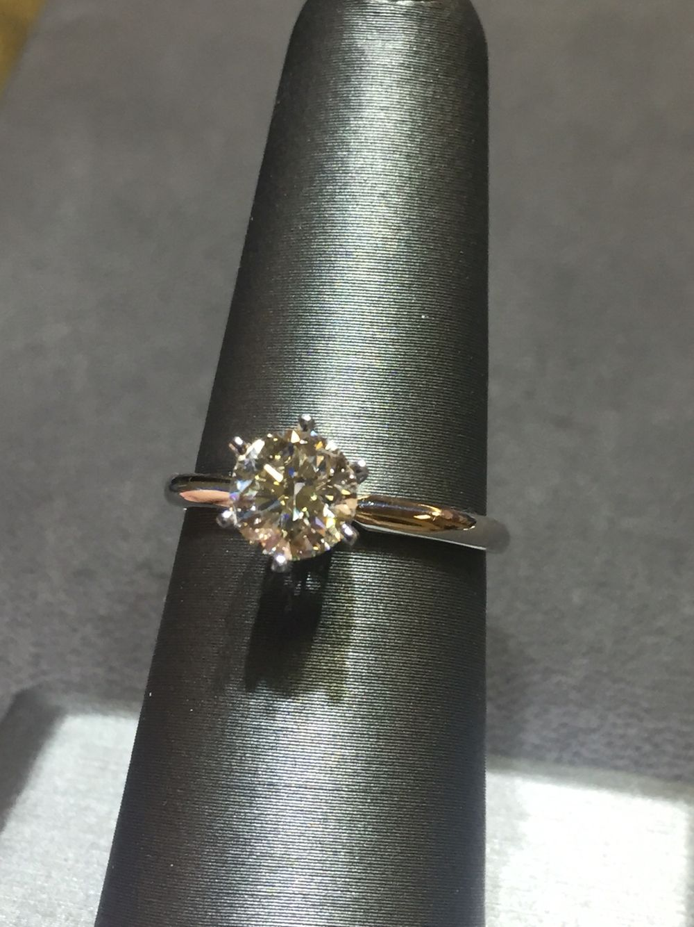 Ladies 14k White Gold Solitaire Ring with a 1.06ct Round Brilliant! Priced at $3,950