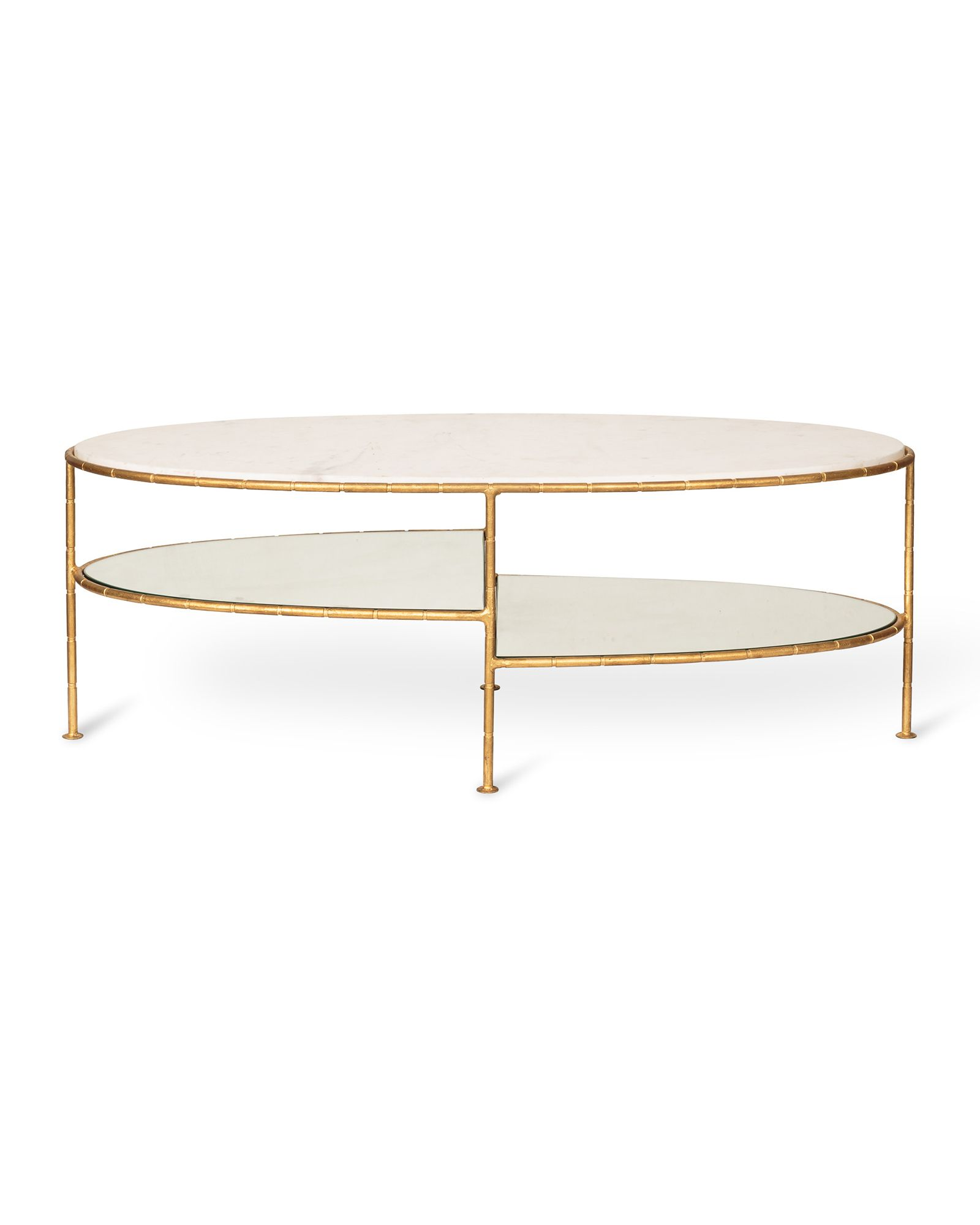 Luxe Three Oval Bamboo Coffee Table Oliver Bonas Coffee Table