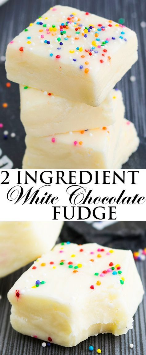 This Easy No Bake 2 Ingredient White Chocolate Fudge Recipe Requires Only Condensed M Chocolate Fudge Recipes Easy Fudge Recipes Easy Fudge Recipes Chocolate