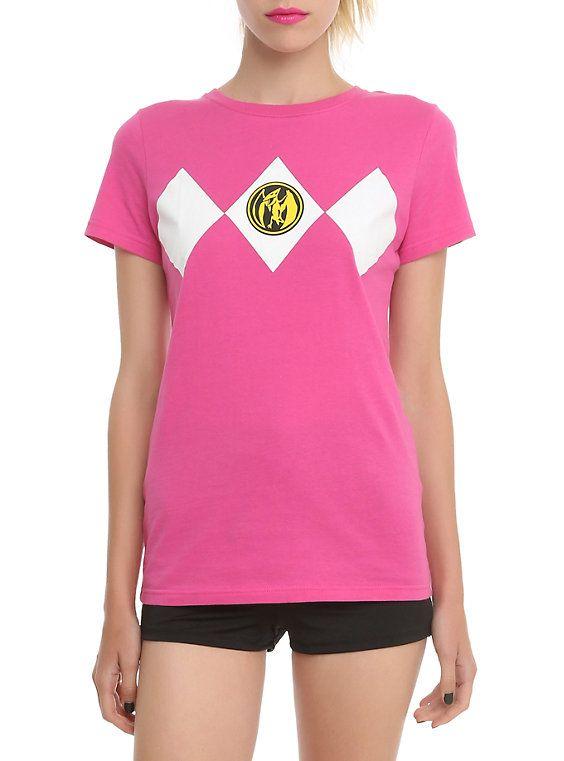 e189609e581 Mighty Morphin Power Rangers Pink Ranger Girls T-Shirt