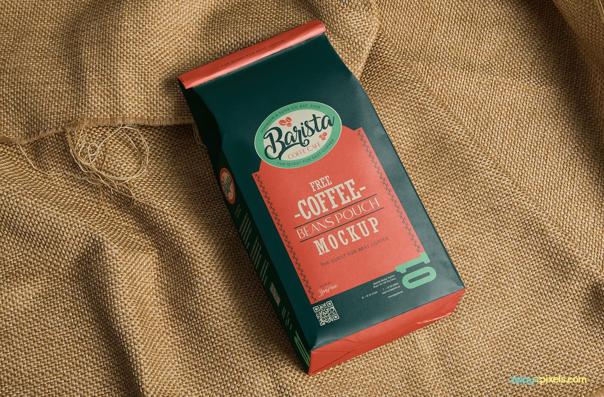 Download Free Classic Coffee Bag Mockup Zippypixels Free Coffee Coffee Branding Coffee Bag