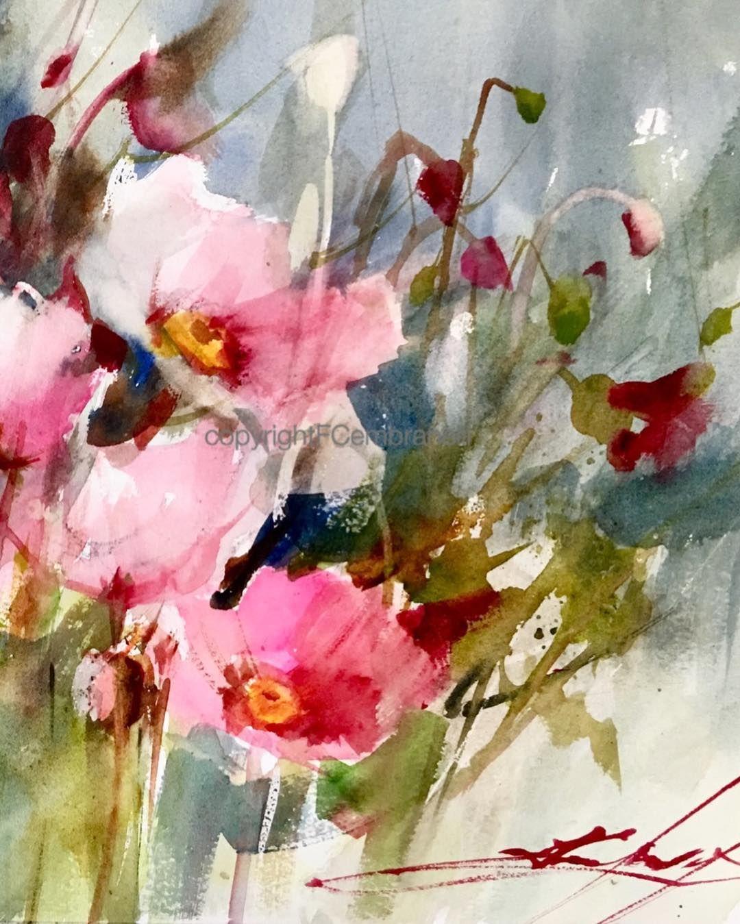 Fabio Cembranelli Acuarela Floral Flores Pintadas Arte De Acuarela
