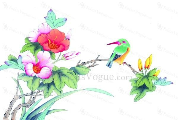 Printed Birds Canvas Art With Stretched Frame Subjects FloralMaterial Dimensions X
