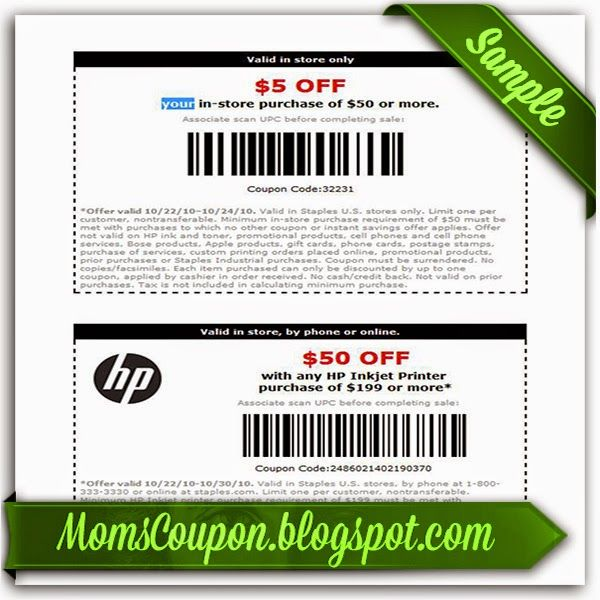 Staples coupon 5 off 50