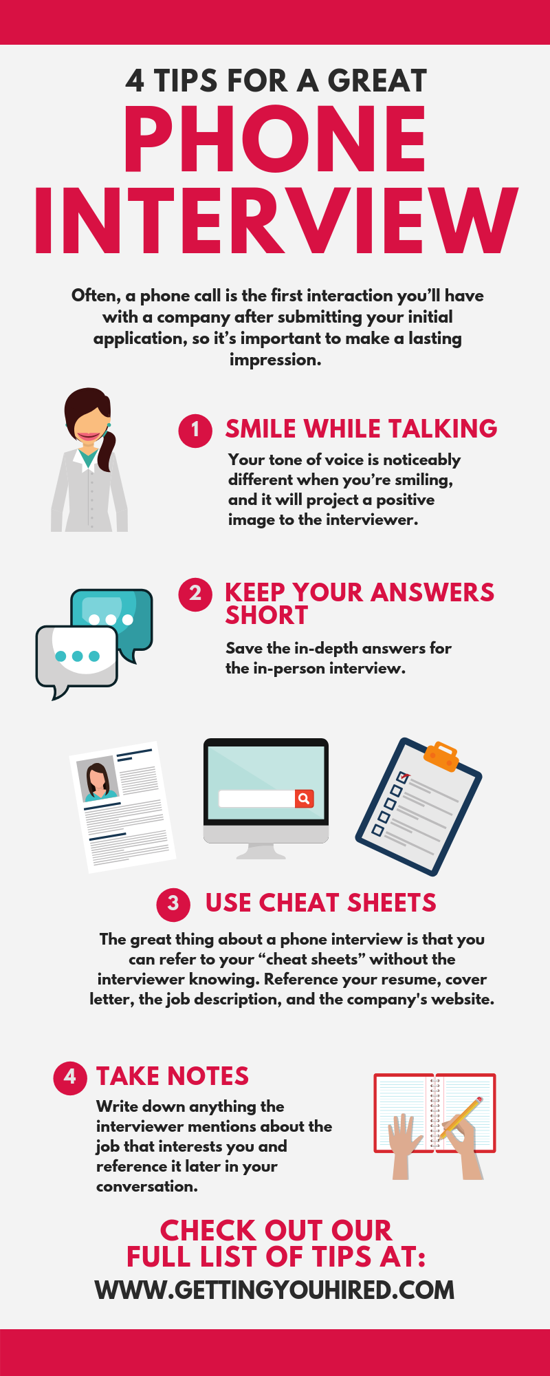 Tips for a Phone Interview Phone interviews, Interview