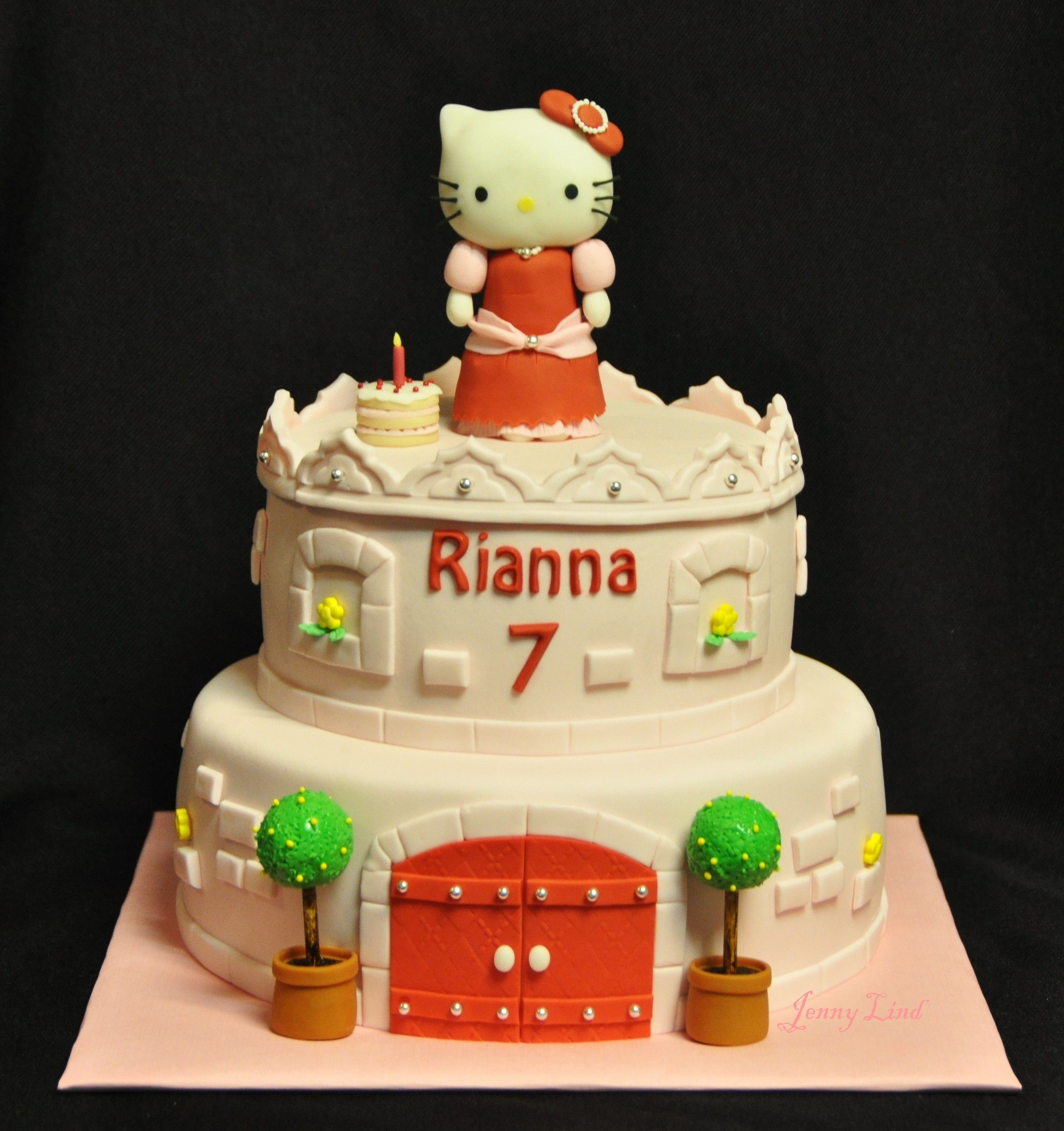 Princess Hello Kitty Cake - inspired by a cake here in CC ...