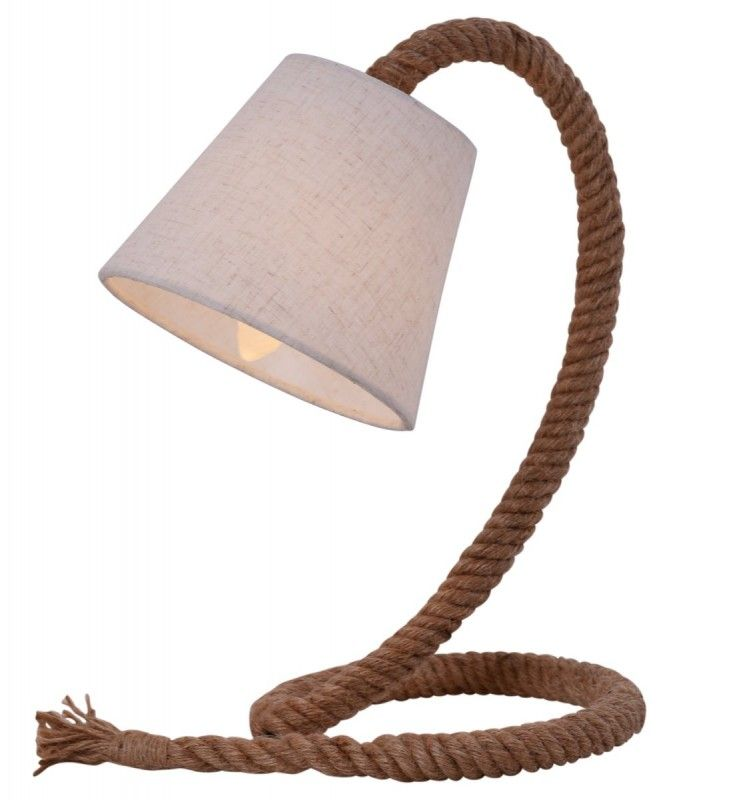 Tischleuchte Natur Tau Strick Nave Rope E14 Mit Schalter 26x38cm Nave Nach Marken Rope Table Lamps Table Lamp Lamp