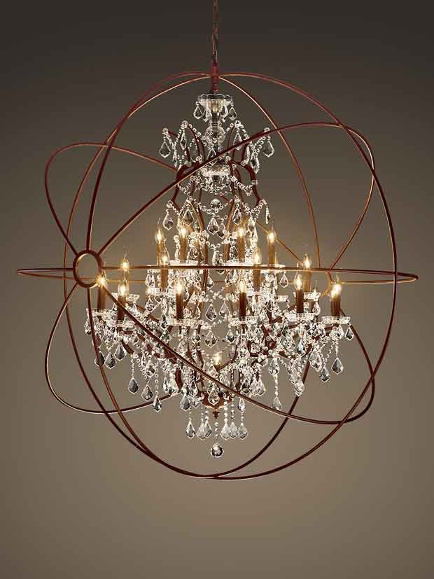 Suitable Chandelier for Library: Pretty Sphere Chandelier Ideas ~ Chandeliers Inspiration