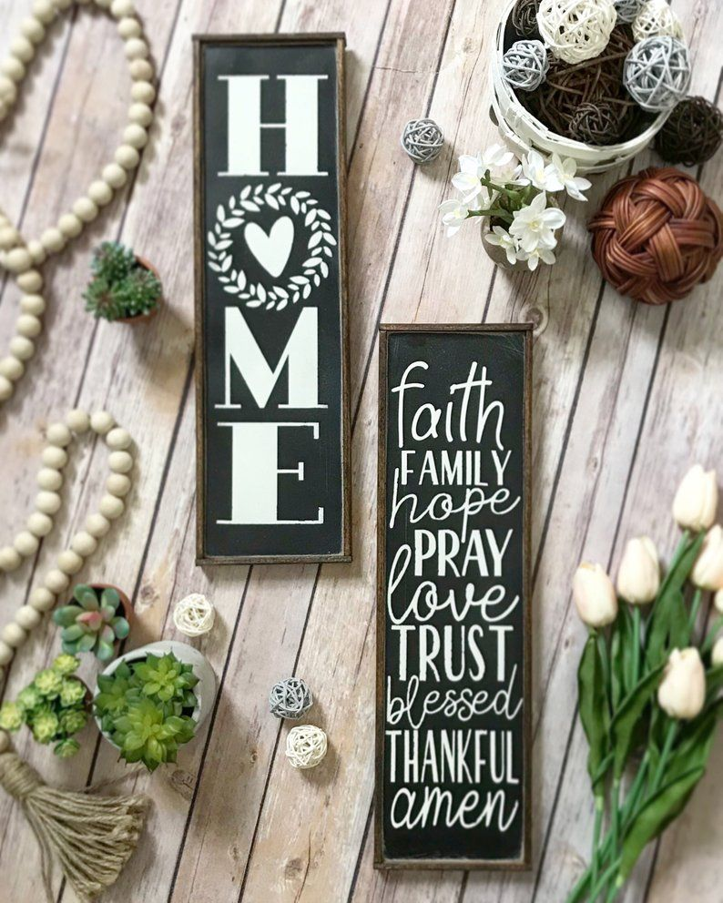 Rustic Long Narrow Farmhouse Signs You Choose Kitchen Bathroom Funny Pantry Laundry Classic Wo Farmhouse Style Sign Farmhouse Signs Rustic Wood Signs