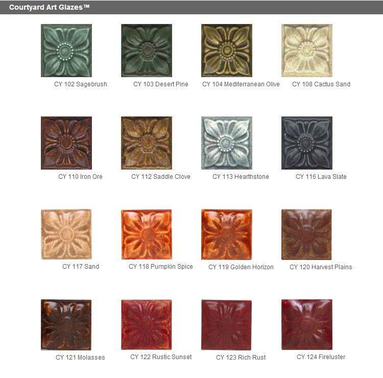 Clayworld Duncan Courtyard Art Glazes 4 Oz Low Fire Glazes
